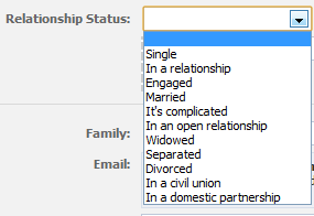 Facebook statuses about relationships