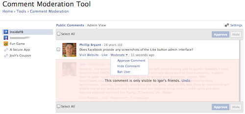 New Comments Box Plugin from Facebook