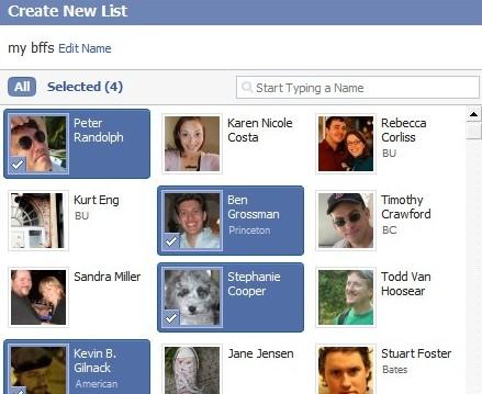 Facebook Friends Lists Guide