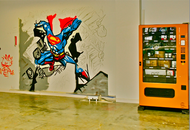 Calvin Superman and Vending Machine