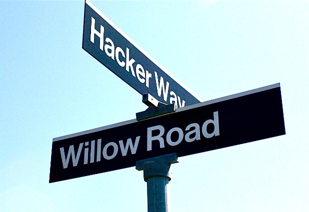 Hacker Way - is the official name of the Facebook's office street