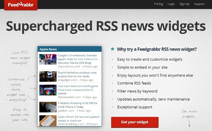 30 awesome ways for using rss feeds for Wordpress rss feed template