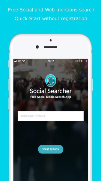 Social Searcher iOS Free Media Monitoring