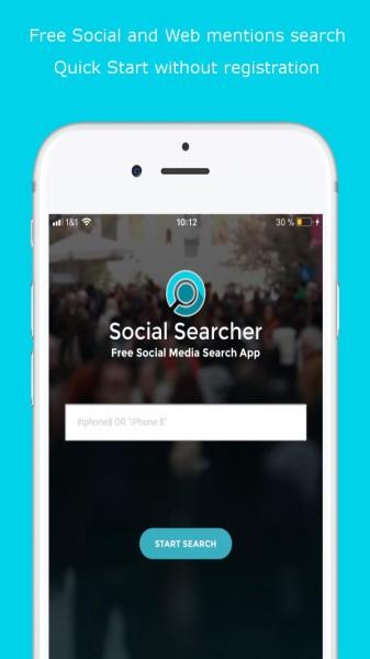 Social Searcher iOS Free Media Monitoring