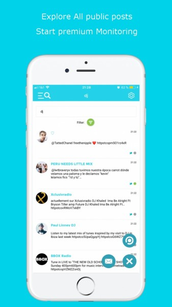 Social Searcher iOS Mobile App Free Social Mentions